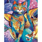 Painting By Numbers Kit DIY Cat Butterfly Canvas Oil Art Picture Craft
