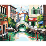 DIY Town Painting By Numbers Kit Hand Painted Canvas Oil Art Picture Gift