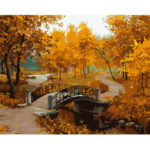 Painting By Numbers Kit DIY Autumn Scenery Canvas Oil Art Picture Craft