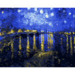 Painting By Numbers Kit DIY Night Sky Hand Painted Canvas Oil Art Picture