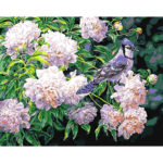 DIY Bird Flower Painting By Numbers Kit Hand Painted Canvas Oil Art Picture
