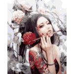 Painting By Numbers Kit DIY Charming Woman Canvas Oil Art Picture Craft