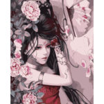 Painting By Numbers Kit DIY Cool Woman Hand Painted Canvas Oil Art Picture