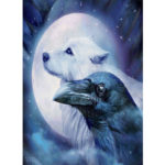 Painting By Numbers Kit DIY Wolf Eagle Hand Painted Canvas Oil Art Picture