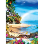Painting By Numbers Kit DIY Beach Hand Painted Canvas Oil Art Picture Craft
