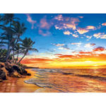 Painting By Numbers Kit DIY Beach Landscape Canvas Oil Art Picture Craft