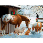 Painting By Numbers Kit DIY Animals Horse Canvas Oil Art Picture Home Decor