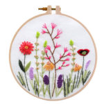 30 X 30cm DIY Flowers Embroidery Kit Needlework Cross Stitch Handwork Craft