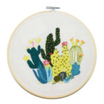 30 X 30cm DIY Cactus Embroidery Kit Needlework Cross Stitch Decor Art Craft