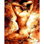 Painting By Numbers Kit DIY Naked Woman Hand Painted Canvas Oil Art Picture
