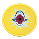 Shark Outdoor Lawn Sprinkler Pad Kids Inflatable Water Spray Mat (Yellow)