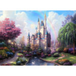 Painting By Numbers Kit DIY Rainbow Castle Canvas Oil Art Picture Craft