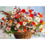 Painting By Numbers Kit DIY Basket Flower Canvas Oil Art Picture Craft