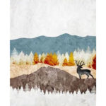 Painting By Numbers Kit DIY Mountain Elk Canvas Oil Art Picture Home Decor
