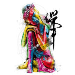 Painting By Numbers Kit DIY Buddha Statue Canvas Oil Art Picture Home Decor