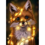 Painting By Numbers Kit DIY Light Fox Hand Painted Canvas Oil Art Picture