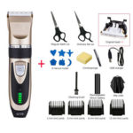 Electric Hair Clipper Rechargeable Hair Trimmer Kits for Adult Child (C)