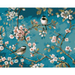 Frameless Painting By Numbers Kit DIY Spring Bird Hand Painted Oil Picture