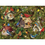 1000pcs DIY Woodhouse Bird Picture Puzzle Educational Assembling Adults Toy