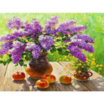 Painting By Numbers Kit DIY Flower Fruit Canvas Oil Art Picture Home Decor