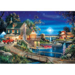 Painting By Numbers Kit DIY Nightscape Hand Painted Canvas Oil Art Picture
