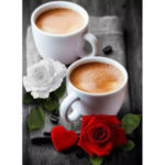 Painting By Numbers Kit DIY Coffee Hand Painted Canvas Oil Art Picture Gift