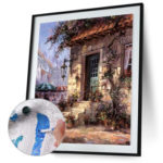 Painting By Numbers Kit DIY House Hand Painted Canvas Oil Art Picture Craft