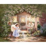 Painting By Numbers Kit DIY Girl Hand Painted Canvas Oil Art Picture Craft