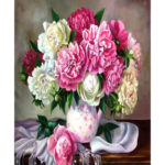 Painting By Numbers Kit DIY Fresh Flower Canvas Oil Art Picture Home Decor