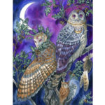 Painting By Numbers Kit DIY Owl Hand Painted Canvas Oil Art Picture Craft