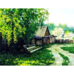 Painting By Numbers Kit DIY Leisure Cottage Canvas Oil Art Picture Craft