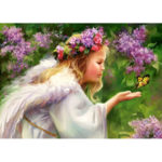 Painting By Numbers Kit DIY Angel Girl Hand Painted Canvas Oil Art Picture