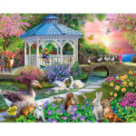 Painting By Numbers Kit DIY Flower House Canvas Oil Art Picture Home Decor