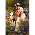 Painting By Numbers Kit DIY Family Affection Canvas Oil Art Picture Craft
