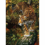 Painting By Numbers Kit DIY Leopard Hand Painted Canvas Oil Art Picture