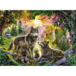 Painting By Numbers Kit DIY Wolves Hand Painted Canvas Oil Art Picture Gift