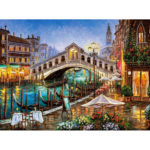 Painting By Numbers Kit DIY Boat Bridge Hand Painted Canvas Oil Art Picture