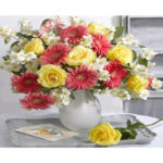 DIY Flower Bouquet Painting By Numbers Kit Canvas Oil Art Picture Craft