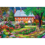 Painting By Numbers Kit DIY Garden Horse Canvas Oil Art Picture Home Decor