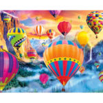 DIY Air Balloon Painting By Numbers Kit Hand Painted Canvas Oil Art Picture