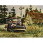 Painting By Numbers Kit DIY Automobile Hand Painted Canvas Oil Art Picture