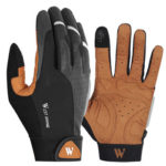 WEST BIKING Cycling Gloves Full Finger Touch Screen Anti Slip Gloves (XL)