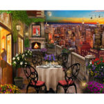 Painting By Numbers Kit DIY Balcony View Canvas Oil Art Picture Home Decor