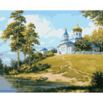 Painting By Numbers Kit DIY Secluded Castle Canvas Oil Art Picture Craft