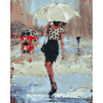 Painting By Numbers Kit DIY Umbrella Girl Canvas Oil Art Picture Home Decor