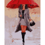 Painting By Numbers Kit DIY Umbrella Woman Canvas Oil Art Picture Craft