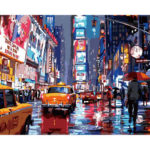 Painting By Numbers Kit DIY Bustling Street Canvas Oil Art Picture Craft