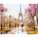 Painting By Numbers Kit DIY Tower Attraction Canvas Oil Art Picture Craft