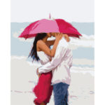Painting By Numbers Kit DIY Umbrella Lovers Canvas Oil Art Picture Craft