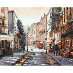 Painting By Numbers Kit DIY Business Street Canvas Oil Art Picture Craft